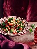 Vegetarian tomato and preserved lemon salad