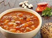 Bean soup with chorizo