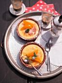 Almond and orange crema catalana