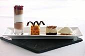 A mixed dessert platter