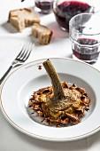 Roman cuisine: fried artichokes