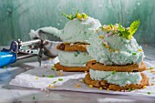 Mint ice cream cakes