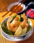 Fried prawns in sesame seeds (Asia)