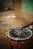 Roasting coffee, Ethiopia, Africa