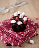 A marshmallow cupcake