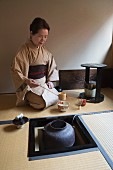 A Japanese tea ceremony, Kyoto, Japan, Asia