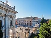 The spacious Piazza del Campidoglio, Rome