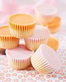 Strawberry and orange mini cupcakes