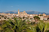 A beautiful view of the town of Sineu, Majorca