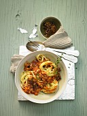 Linguine with gurnard bolognese