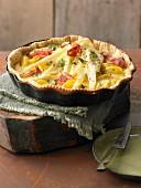 Potato and parsnip tart