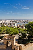 A view from Castell de Bellver over Palma de Majorca