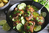 Chicken thighs with lime