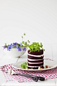 A tower of beetroot and goat's cheese