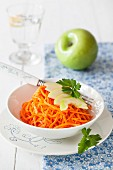 Carrot and apple salad with lime vinaigrette
