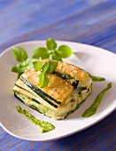 Courgette gratin with cheese