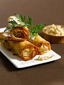 Andouillette spring rolls (France)