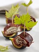 Fig and beef skewers
