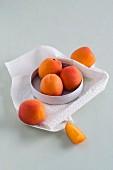 Frische Aprikosen in einer Schale