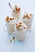 Espresso foam with chopped almonds