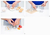 Snowman muffins being made