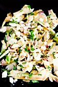 Artichoke and Parmesan salad with dried chilli flakes