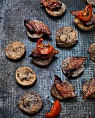 Dried figs with Pancetta and peppers