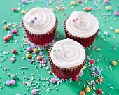 Snake cupcakes