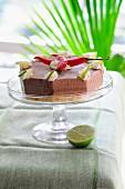 Schokoladeneistorte mit Chili