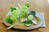Cucumber ice cream