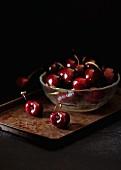 Glass Bowl of Cherries