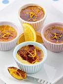 Orange crème brûlée