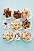 Star-shaped doughnuts for Christmas