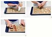 Spekulatius spirals (German Christmas shortcrust biscuits) being made
