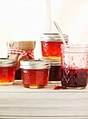 Various jars of homemade jam