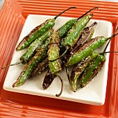 Grilled Spanish peppers