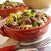 Brazilian cowboy rice with beef and parsley