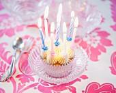 A birthday cupcake
