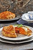 Butternut squash and feta cheese pie