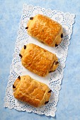 Pain au chocolat (chocolate croissants, France)