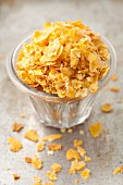 A glass of cornflakes