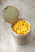 A tin of sweetcorn