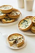 Mini spinach and mushroom quiches