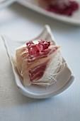 Bream sashimi on strips of radish