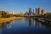 Yarra River, skyline of Melbourne, Australia