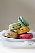 Five different coloured macaroons