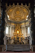 The apse in St Peter's Cathedral, Vatican, Rome