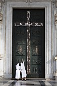 The holy doors of the Basilica of St. Paul outside the Walls, Rome