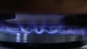 A gas flame (close-up)