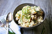 Potato salad with chives and dill
